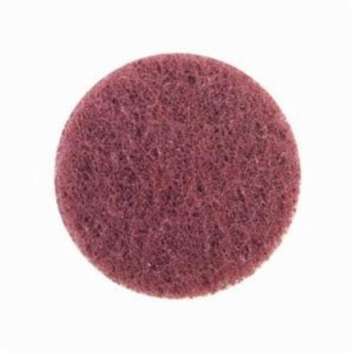 Norton® Merit® High Strength 08834164245 Quick-Change Non-Woven Abrasive Disc, 2 in Dia, Type TS (Type II) Attachment, Aluminum Oxide, Very Fine Grade