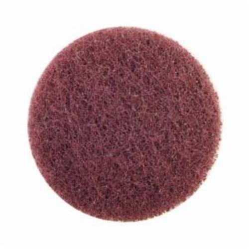 Norton® Merit® High Strength 08834164252 Quick-Change Non-Woven Abrasive Disc, 3 in Dia, Type TS (Type II) Attachment, Aluminum Oxide, Medium Grade