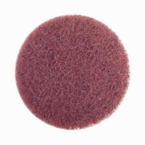Norton® Merit® High Strength 08834164255 Quick-Change Non-Woven Abrasive Disc, 3 in Dia, Type TS (Type II) Attachment, Aluminum Oxide, Very Fine Grade