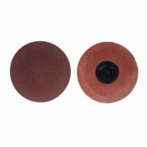 Norton® Merit® PowerLock® FlexEdge™ 08834164309 ALO Flexible Coated Abrasive Quick-Change Disc, 1 in Dia, 50 Grit, Coarse Grade, Aluminum Oxide Abrasive, Type TP (Type I) Attachment