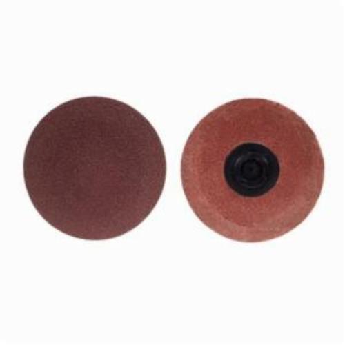 Merit® PowerLock® FlexEdge™ 08834164320 ALO Flexible Coated Abrasive Quick-Change Disc, 1-1/2 in Dia, 180 Grit, Fine Grade, Aluminum Oxide Abrasive, Type TP (Type I) Attachment