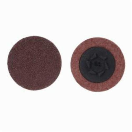 Merit® PowerLock® 08834164365 ALO Plus Coated Abrasive Quick-Change Disc, 1 in Dia, 50 Grit, Coarse Grade, Aluminum Oxide Abrasive, Type TP (Type I) Attachment