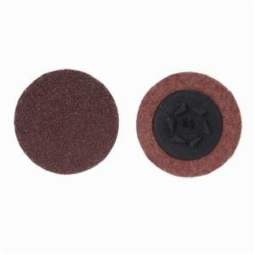 Merit® PowerLock® 08834164396 ALO Plus Coated Abrasive Quick-Change Disc, 1-1/2 in Dia, 80 Grit, Coarse Grade, Aluminum Oxide Abrasive, Type TP (Type I) Attachment