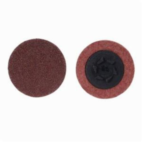Merit® PowerLock® 08834164432 ALO Plus Coated Abrasive Quick-Change Disc, 3 in Dia, 50 Grit, Coarse Grade, Aluminum Oxide Abrasive, Type TP (Type I) Attachment