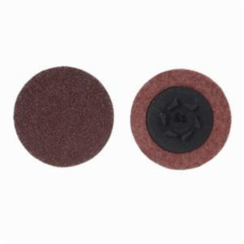 Merit® PowerLock® 08834164433 ALO Plus Coated Abrasive Quick-Change Disc, 3 in Dia, 60 Grit, Coarse Grade, Aluminum Oxide Abrasive, Type TP (Type I) Attachment