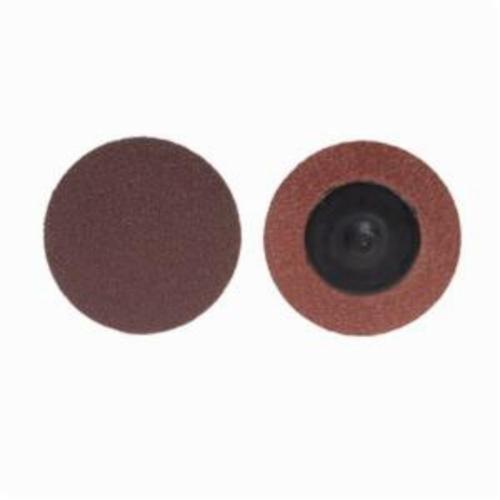 Merit® PowerLock® 08834164462 ALO Plus Coated Abrasive Quick-Change Disc, 4 in Dia, 60 Grit, Coarse Grade, Aluminum Oxide Abrasive, Type TP (Type I) Attachment