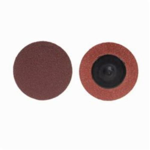 Merit® PowerLock® 08834164475 ALO Plus Coated Abrasive Quick-Change Disc, 1 in Dia, 36 Grit, Extra Coarse Grade, Aluminum Oxide Abrasive, Type TR (Type III) Attachment