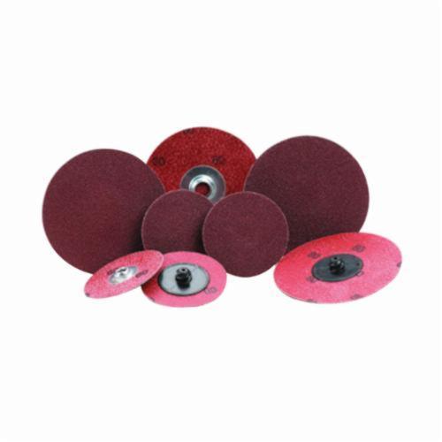Merit® PowerLock® 08834164495 ALO Plus Coated Abrasive Quick-Change Disc, 2 in Dia, 80 Grit, Coarse Grade, Aluminum Oxide Abrasive, Type TR (Type III) Attachment