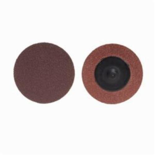Merit® PowerLock® 08834164500 ALO Plus Coated Abrasive Quick-Change Disc, 3 in Dia, 50 Grit, Coarse Grade, Aluminum Oxide Abrasive, Type TR (Type III) Attachment