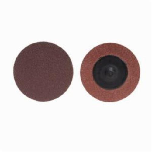 Merit® PowerLock® 08834164509 ALO Plus Coated Abrasive Quick-Change Disc, 3 in Dia, 120 Grit, Medium Grade, Aluminum Oxide Abrasive, Type TR (Type III) Attachment