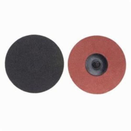 Merit® PowerLock® 08834164850 Coated Abrasive Quick-Change Disc, 3 in Dia, 60 Grit, Coarse Grade, Silicon Carbide Abrasive, Type TR (Type III) Attachment