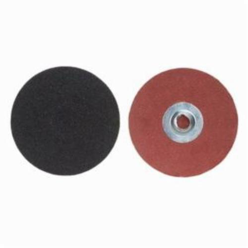 Merit® PowerLock® 08834165267 Coated Abrasive Quick-Change Disc, 3 in Dia, 40 Grit, Extra Coarse Grade, Silicon Carbide Abrasive, Type TS (Type II) Attachment