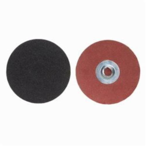 Merit® PowerLock® 08834165272 Coated Abrasive Quick-Change Disc, 3 in Dia, 120 Grit, Medium Grade, Silicon Carbide Abrasive, Type TS (Type II) Attachment