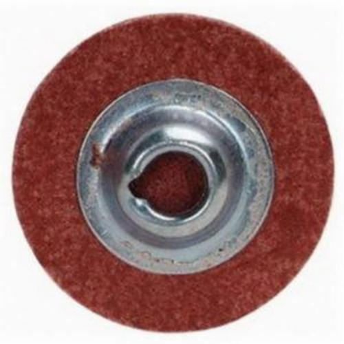 Merit® PowerLock® 08834167807 Zenith Quick-Change Coated Abrasive Disc, 3 in Dia, 50 Grit, Coarse Grade, Zirconia Alumina Abrasive, Type TS (Type II) Attachment