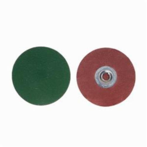 Merit® PowerLock® 08834166039 SG F986 Quick-Change Coated Abrasive Disc, 3 in Dia, 80 Grit, Medium Grade, Ceramic Alumina Abrasive, Type TS (Type II) Attachment