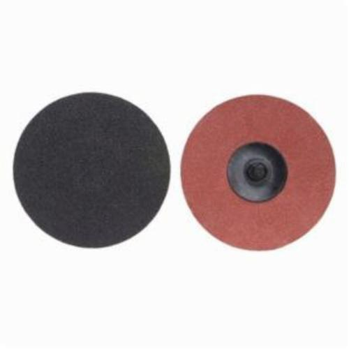 Merit® PowerLock® 08834166155 Coated Abrasive Quick-Change Disc, 2 in Dia, 80 Grit, Coarse Grade, Silicon Carbide Abrasive, Type TR (Type III) Attachment
