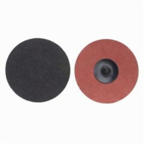 Norton® Merit® PowerLock® 08834166159 Coated Abrasive Quick-Change Disc, 3 in Dia, 80 Grit, Coarse Grade, Silicon Carbide Abrasive, Type TR (Type III) Attachment
