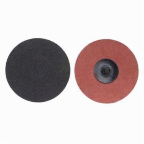 Norton® Merit® PowerLock® 08834166160 Coated Abrasive Quick-Change Disc, 3 in Dia, 120 Grit, Medium Grade, Silicon Carbide Abrasive, Type TR (Type III) Attachment