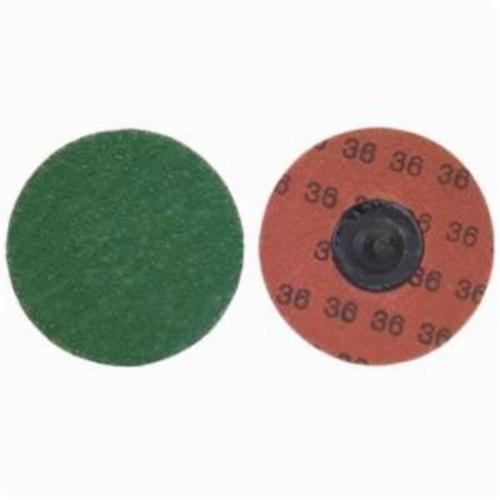 Norton® Merit® PowerLock® 08834166219 SG F986 Quick-Change Coated Abrasive Disc, 3 in Dia, 36 Grit, Extra Coarse Grade, Ceramic Alumina Abrasive, Type TR (Type III) Attachment