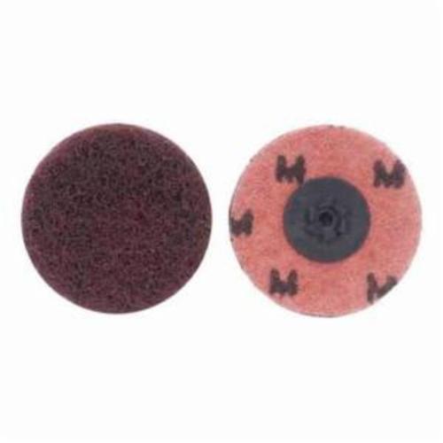 Merit® Buffing 08834166280 Quick-Change Non-Woven Abrasive Disc, 2 in Dia, Type TP (Type I) Attachment, Aluminum Oxide, Medium Grade