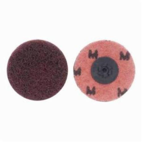 Merit® Buffing 08834166280 Quick-Change Non-Woven Abrasive Disc, 2 in Dia, Type TP (Type I) Attachment, Aluminum Oxide, Medium Grade