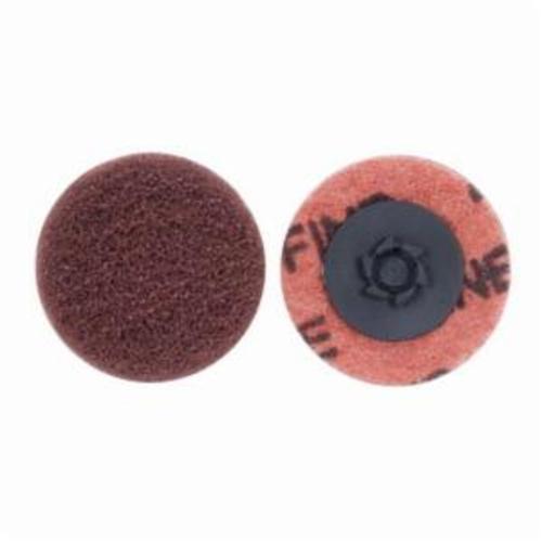 Merit® Buffing 08834166281 Quick-Change Non-Woven Abrasive Disc, 2 in Dia, Type TP (Type I) Attachment, Aluminum Oxide, Fine Grade