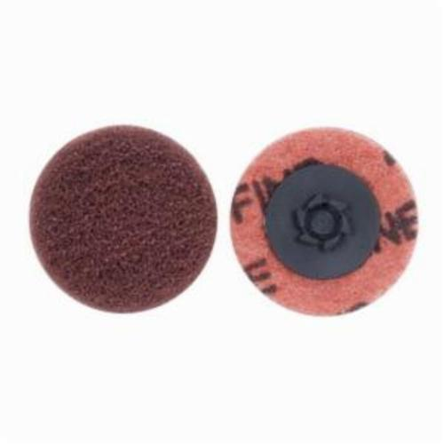 Norton® Merit® Buffing 08834166281 Quick-Change Non-Woven Abrasive Disc, 2 in Dia, Type TP (Type I) Attachment, Aluminum Oxide, Fine Grade
