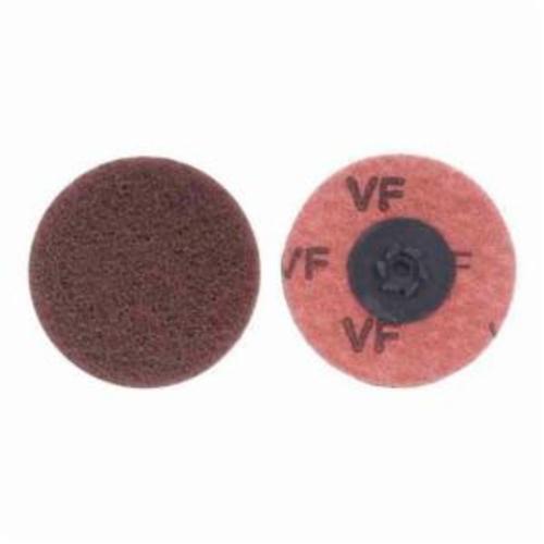 Merit® Buffing 08834166282 Quick-Change Non-Woven Abrasive Disc, 2 in Dia, Type TP (Type I) Attachment, Aluminum Oxide, Very Fine Grade