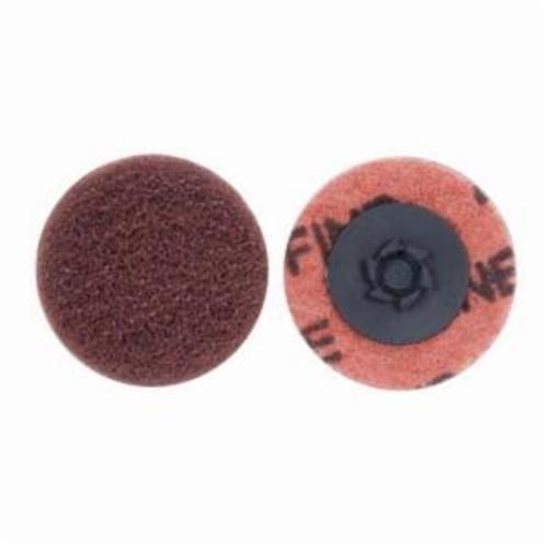 Merit® Buffing 08834166285 Quick-Change Non-Woven Abrasive Disc, 3 in Dia, Type TP (Type I) Attachment, Aluminum Oxide, Fine Grade