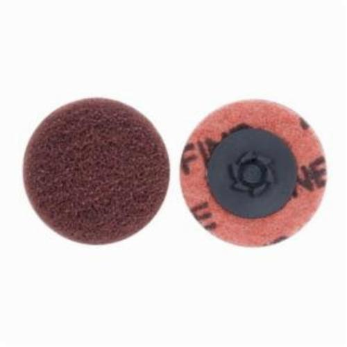 Merit® Buffing 08834166285 Quick-Change Non-Woven Abrasive Disc, 3 in Dia, Type TP (Type I) Attachment, Aluminum Oxide, Fine Grade