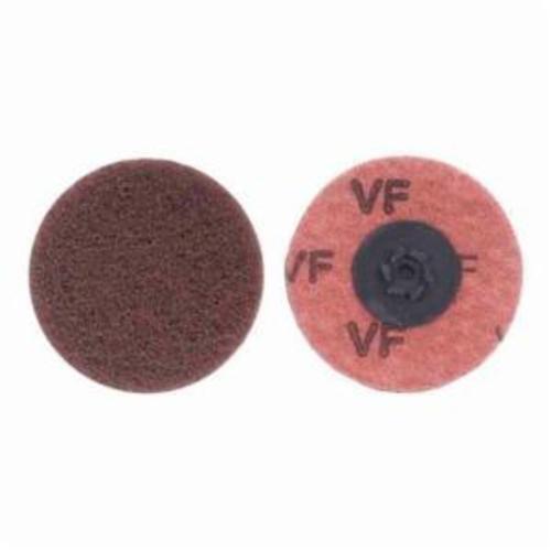 Merit® Buffing 08834166286 Quick-Change Non-Woven Abrasive Disc, 3 in Dia, Type TP (Type I) Attachment, Aluminum Oxide, Very Fine Grade
