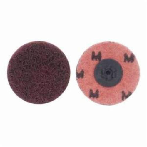Merit® Buffing 08834166292 Quick-Change Non-Woven Abrasive Disc, 1-1/2 in Dia, Type TP (Type I) Attachment, Aluminum Oxide, Medium Grade