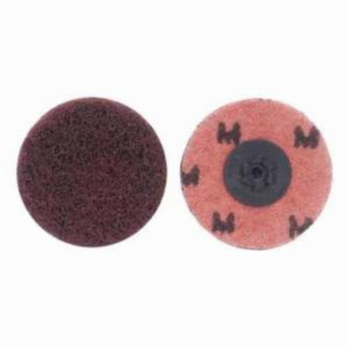 Norton® Merit® Buffing 08834166292 Quick-Change Non-Woven Abrasive Disc, 1-1/2 in Dia, Type TP (Type I) Attachment, Aluminum Oxide, Medium Grade