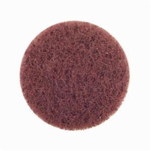 Norton® Merit® Buffing 08834166293 Quick-Change Non-Woven Abrasive Disc, 3 in Dia, Type TP (Type I) Attachment, Aluminum Oxide, Coarse Grade