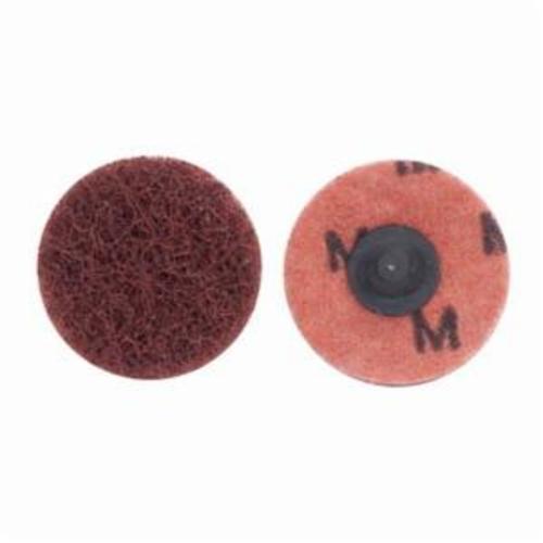 Merit® Buffing 08834166303 Quick-Change Non-Woven Abrasive Disc, 2 in Dia, Type TR (Type III) Attachment, Aluminum Oxide, Medium Grade