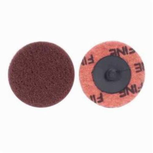 Norton® Merit® Buffing 08834166304 Quick-Change Non-Woven Abrasive Disc, 2 in Dia, Type TR (Type III) Attachment, Aluminum Oxide, Fine Grade