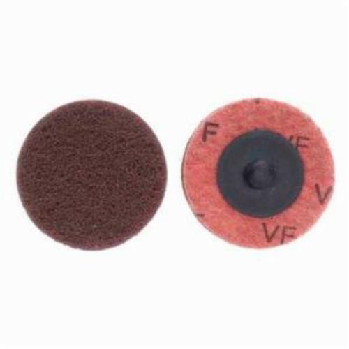 Merit® Buffing 08834166305 Quick-Change Non-Woven Abrasive Disc, 2 in Dia, Type TR (Type III) Attachment, Aluminum Oxide, Very Fine Grade