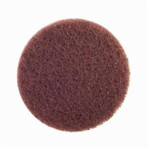 Merit® Buffing 08834166308 Quick-Change Non-Woven Abrasive Disc, 3 in Dia, Type TR (Type III) Attachment, Aluminum Oxide, Medium Grade