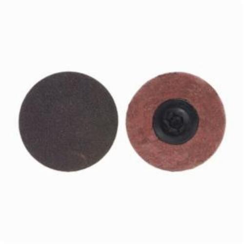Norton® Merit® PowerLock® FlexEdge™ 08834166375 ALO Flexible Coated Abrasive Quick-Change Disc, 1-1/2 in Dia, 50 Grit, Coarse Grade, Aluminum Oxide Abrasive, Type TP (Type I) Attachment