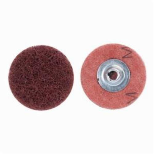 Merit® Buffing 08834166392 Quick-Change Non-Woven Abrasive Disc, 1-1/2 in Dia, Type TS (Type II) Attachment, Aluminum Oxide, Medium Grade