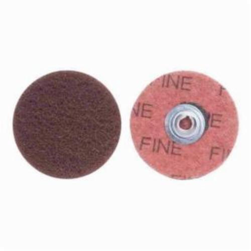 Norton® Merit® Buffing 08834166396 Quick-Change Non-Woven Abrasive Disc, 2 in Dia, Type TS (Type II) Attachment, Aluminum Oxide, Fine Grade