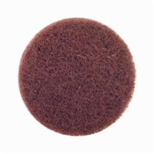 Merit® Buffing 08834166397 Quick-Change Non-Woven Abrasive Disc, 3 in Dia, Type TS (Type II) Attachment, Aluminum Oxide, Coarse Grade