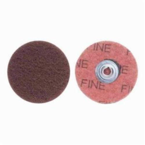 Merit® Buffing 08834166399 Quick-Change Non-Woven Abrasive Disc, 3 in Dia, Type TS (Type II) Attachment, Aluminum Oxide, Fine Grade
