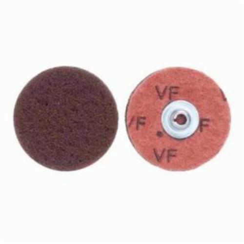 Norton® Merit® Buffing 08834166405 Quick-Change Non-Woven Abrasive Disc, 2 in Dia, Type TS (Type II) Attachment, Aluminum Oxide, Very Fine Grade