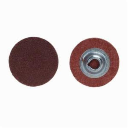 Merit® PowerLock® 08834166896 ALO Plus Coated Abrasive Quick-Change Disc, 2 in Dia, 36 Grit, Extra Coarse Grade, Aluminum Oxide Abrasive, Type TS (Type II) Attachment