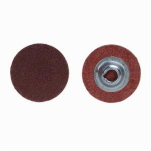 Merit® PowerLock® 08834166898 ALO Plus Coated Abrasive Quick-Change Disc, 2 in Dia, 50 Grit, Coarse Grade, Aluminum Oxide Abrasive, Type TS (Type II) Attachment