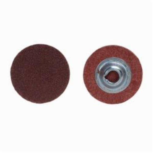 Merit® PowerLock® 08834166902 ALO Plus Coated Abrasive Quick-Change Disc, 2 in Dia, 120 Grit, Medium Grade, Aluminum Oxide Abrasive, Type TS (Type II) Attachment