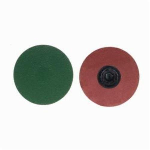 Merit® PowerLock® 08834167040 Zirc Plus R801 Coated Abrasive Quick-Change Disc, 4 in Dia, 60 Grit, Coarse Grade, Zirconia Alumina Abrasive, Type TP (Type I) Attachment