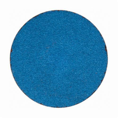 Merit® PowerLock® 08834167069 Zirc Plus R801 Coated Abrasive Quick-Change Disc, 2 in Dia, 80 Grit, Coarse Grade, Zirconia Alumina Abrasive, Type TS (Type II) Attachment