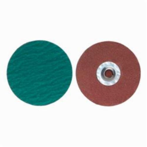 Merit® PowerLock® 08834167072 Zirc Plus R801 Coated Abrasive Quick-Change Disc, 3 in Dia, 36 Grit, Extra Coarse Grade, Zirconia Alumina Abrasive, Type TS (Type II) Attachment
